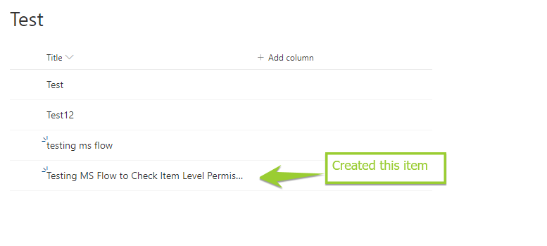 MS Flow to Provide Item level permission on SharePoint list